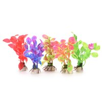 Wholesale 1Pc Fish Tank Grass Flower Ornament Decor Landscape Plastic Aquarium Decorations Multicolor Artificial Plants