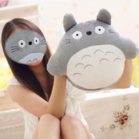 Cheap Cartoon Totoro Plush Hand Warmer Throw Pillow Cute Headrest,Stuffed Animal Cushion Home Decor,Children's Toys