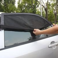 Wholesale 2PCS Universal Adjustable Car Sun Shades UV Protection Window Shield Mesh Cover Car Sun Visor window foil Sunshades L XL