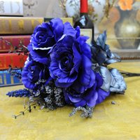 Wholesale Housing estates artless beauty classic high fantasy big roses artificial flowers artificial flowers silk cloth