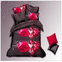 Cheap Wholesale-3d bedding set bedclothes bed set duvet cover flat sheet Home Textiles pillowcase Queen size flower horse Marilyn Monroe