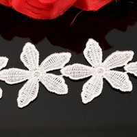 accessories ge - DIY Sewing Craft Ribbon Wedding Flower Pattern Embroidered Lace Ed ge Trim Home Applique Accessory New