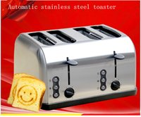 bread oven toaster - With the export of stainless steel four Slice Toaster toaster oven toast bread breakfast machine for household business