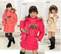 authentic clothing - Children s clothing new authentic winter down jacket female long cuhk children s fashion leisure coat