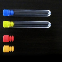 Wholesale 10 Piece Useful Transparent Plastic Test Tubes With White plugs ZH203