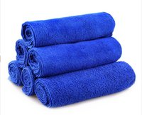 Wholesale New cm Blue Microfiber Absorbent Towel Car Washing Clean Wash Cloth