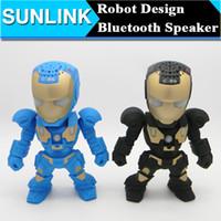 Conception C-89 Iron Man Transformer Robot Bluetooth Mini haut-parleur Led Clignotant Portable Hifi Wireless Music Player Box Radio FM