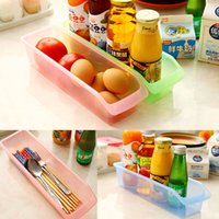 baskets for organizing - Plastic Clear Storage Box Kitchen Flatware Container Multifunction Debris Organize Basket For Drawer Fridge Desktop
