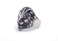 casting jewelry - stainless steel lion head finger rings titanium steel men casting ring fashion men jewelry BH092802