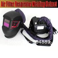 Cheap Solar auto darkening Air Filter Respirator Welding Helmet mask for MIG TIG MAG Gas welding machine and plasma cutting machine