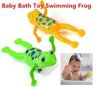 Cheap Funny Baby Kids Bath Toy Clockwork Wind Up Plastic Swimming Frog Battery Operated Pool Bath for Kids & Baby Hot 2015