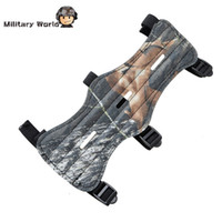 Wholesale Hot Sale Leather Material Archery Sports Arm Safe Protector Hole Straps Durable Camo Arm Guard Armbrand For Hunting Sport order lt no tr