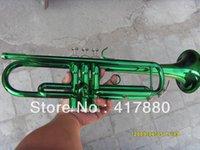 Los instrumentos de cobre amarillo de encargo del inventario ytr-1335 de los fabricantes surten la trompeta verde del Bb del ejército El envío libre