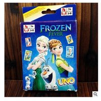 Wholesale Frozen UNO Poker Card Elsa Anna Family Fun Entermainment Board Game Standard Edition Kids Funny Game Christmas Gifts Dhgate
