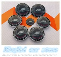 ac schnitzer stickers - AC SCHNITZER Color full set Car Badge stickers Front Hood Rear Emblem Wheel Hub Cap steering wheel sticker