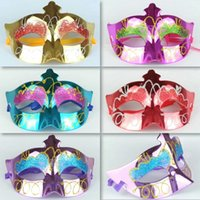 animal masks children - Mixed Colors Kids Painted Mask Mardi Gras Masks Colorful Elf Masquerade Masks Pretty Princess Cheap Party Supplies
