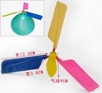 toy airplane - The flying balloons propeller airplane balloons DIY balloons The balloon helicopter Children s toys balloon plane OPP BAGS