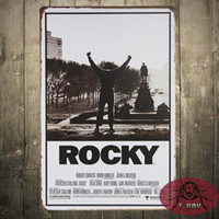 antique plaques - HandMade High Quality ROCKY movie poster Vintage Enameled Metal Wall Sign tin sign Plaque
