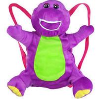 barney backpack - Brand NEW Soft quot Barney Plush Doll Backpack The Dinosaur Heart Purple Bag