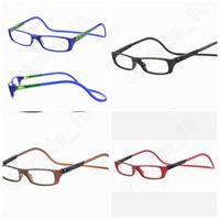 Wholesale 200PCS LJJL39 New Unisex Reading Glasses Plastic Frame Magnetic Halter Reading Glasses Adjustable Foldable Flexible Hyperopia