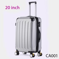 Wholesale 20 Inch Spinner Travel Suitcase Trolley Case Trolley Suitcase ABS Rolling Luggage CA001