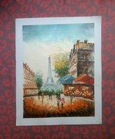 Cheap paris landscape painting Best oil painting