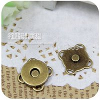 antique sewing buttons - MM Metal Magnetic Button Antique Bronze Plum Design perfect for Bag clothes sewing Scrapbooking
