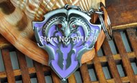aegis cosplay - EMS New Key chains Dota aegis Keychain Online game Cosplay fashion Dota2 Red Mist Shield Keyring