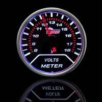 Wholesale Car Motor Universal Smoke Len quot mm Indicator Volt Voltage Gauge Meter M11468 motor cargo motor mania