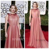 amber jewel - 2016 Golden Globe Awards Amber Heard Red Carpet Evening Gowns Wears Flowers Evening Gowns Party Formal Custom Beautiful Prom Dresses