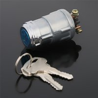 Wholesale Car Boot Lock Switch Universal Replacement Switch Lock Silver Starter Lock Cylinder Aluminum with Keys cm for Car Auto
