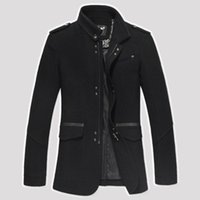 designer clothes for men - 2014 Euro Style Brand Jackets for men coats casual mens jacket woollen jackets designer winter men s coat men clothing