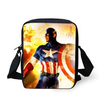 america phone book - 2016 New Arrival Captain America one shoulder Messenger Bags For Man Woman Mini Travel Bags Boy Small Book Bag Girl Mochila