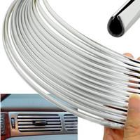 Wholesale 3metres x MM CHROME TRIM STRIP BUMPER AIR VENT GRILLE SWITCH RIM MOULDING quot U quot STYLE A3