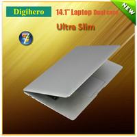 laptop computer - 14 inch win7 mini laptop Intel Atom D2500 ultra thin notebook Windows Ultrabook laptop PC Netbook dual core HDD HDMI Laptops computer PC
