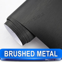 best vehicle body - New Arrival BLACK Metallic BRUSHED ALUMINUM Vehicle Wrap Vinyl Film Car Sticker Air Channel best Car Styling