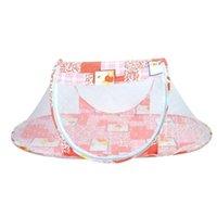 Wholesale Creative New Baby Bed mosquito Cushion Crib Portable Folding Crib Mattress Baby Plaid Crib Netting