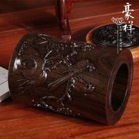 Wholesale Magpie Mui mahogany wood round pen pen African ebony wood reliefs round pen pen