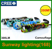 wholesale resale - LED outdoor Flashlights Camouflage appear for Camping M shine range Cree LED modes Aluminium alloy resale package charger