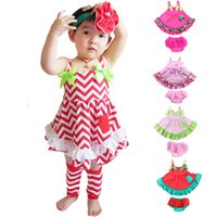 Cheap Baby Girl Clothing Set Ruffle Bloomers + Cute T-shirts Toddler Cotton Clothing Baby Fashion Clothes in Summer Free Shipping W0057