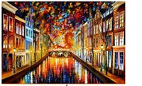 afremov paintings - New Amsterdam By Leonid Afremov reproductions scenery oil paintings on canvas relist kixhome oil painting on canvas for deco