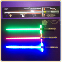 Wholesale 3 Colors star wars Light Saber Eco Friendly PVC star wars toys Weapons Lightsaber Cosplay Figure toy swords