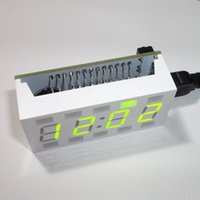 Wholesale Electronic Clock DIY Kit Simple Digital LED Clock Kit White Desktop Clock Parts Components