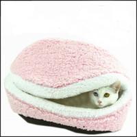 cat litter - Hamburger Pet Cats Beds Kitty Cat Dogs Litter Shell Nest Sleeping Mats House Sofa Removable Thermal Hiding Burger Bun for Pets