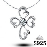 beautiful gift certificates - Factory Beautiful and fragrant flowers blooming gift certificate rhodium silver pendant S925 sterling silver pendant silver jewe