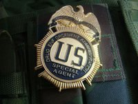 antique copper fans - The United States SpecialAgent metal badge badge large copper Badge