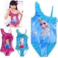 Cheap Free shipping Frozen Elsa Costume one pieces Character Children Baby Girls Swimwear Kids Bikini Bodysuit Clothing Swimsuit