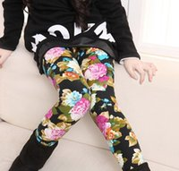 Wholesale 5 Toddler Infant Baby Leggings Pant Floral Winter Warmer Slim Render Pants Girls Printed Tights Skinny Trousers Babies Clothes