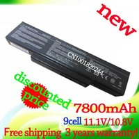Wholesale 9 Cells mAh Laptop battery for ASUS A32 K72 N71 N71J N71JA N71JQ N71JV N71V N71VG A32 N71 NX01B1000Z NXH1B1000Z