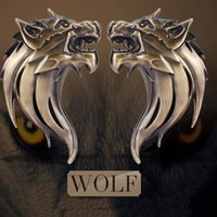 auto emblem tape - 1 Auto Car Truck Motor D Wolf Head Logo Sticker Prime Emblem Badge Car Styling Stickers Decal Adhesive Tape